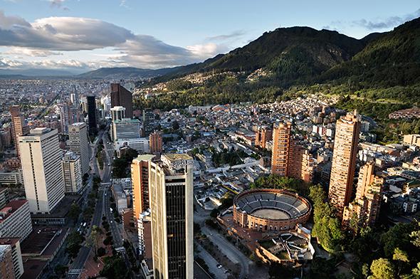 Turismo en el centro de Bogota, capital colombiana